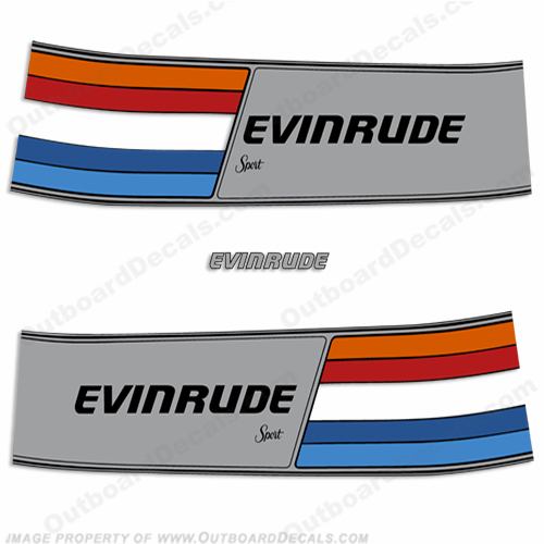 Evinrude 1981 75hp Outboard Engine Decals