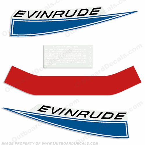 Evinrude 1968 9.5hp Outboard Engine Decals