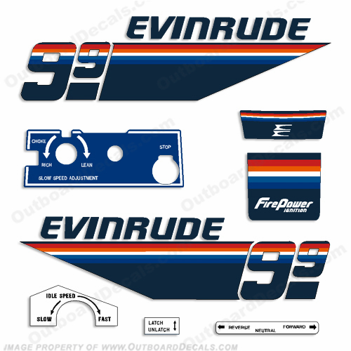 Evinrude Engines OutboardDecalscom S Of Decals In Stock - Decals for boat motorsoutboarddecalscom s of decals in stock