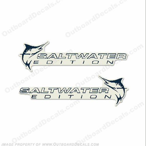 "Evinrude Single ""Saltwater Edition"" Decals (Set of 2)"
