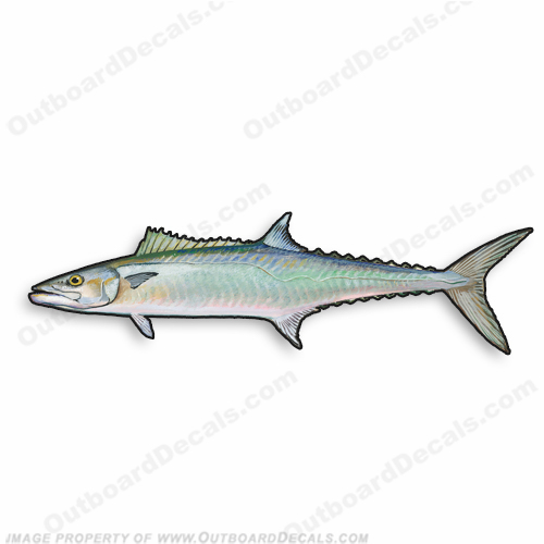 "Fish Decal ""King Mackerel"" - Die Cut 9"" Decal"