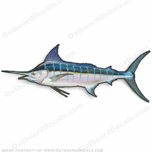 "Fish Decal ""Marlin"" - Die Cut 9"" Decal"