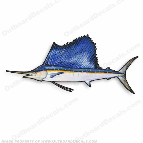 "Fish Decal ""Sailfish"" - Die Cut 9"" Decal"