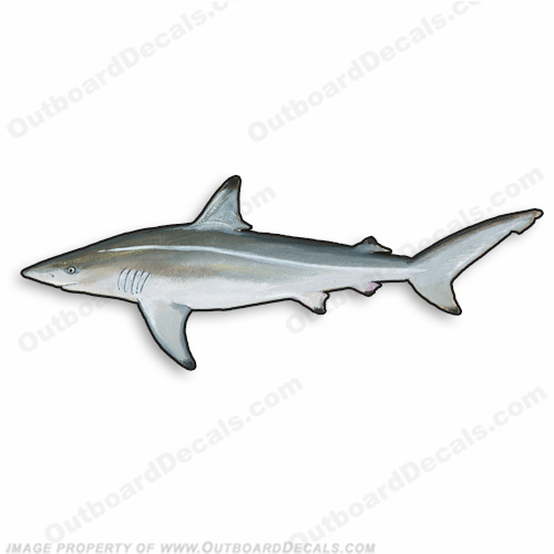 "Fish Decal ""Shark"" - Die Cut 9"" Decal"