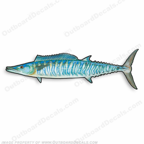 "Fish Decal ""Wahoo"" - Die Cut 9"" Decal"