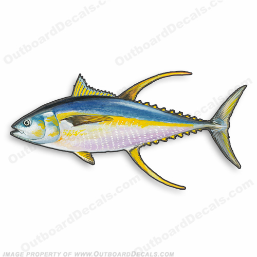 "Fish Decal ""Yellowfin Tuna"" - Die Cut 9"" Decal"