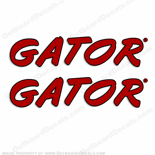 Gator Trailer Decals (Set of 2) - Style 2