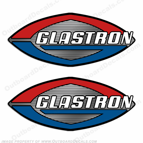 Glastron Boats Decal - Chrome Accents!