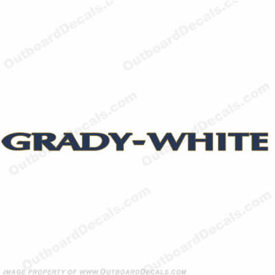 Grady White Boat Decal - 2 Color!