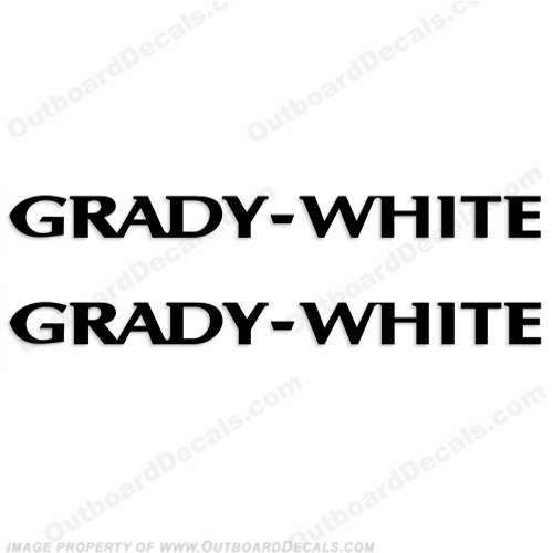 Grady White Boat Logo Decals (Set of 2) - Any Color!
