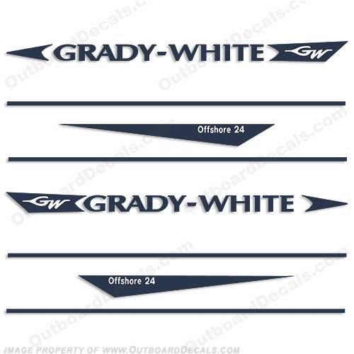 Grady White Offshore 24 Decal Kit