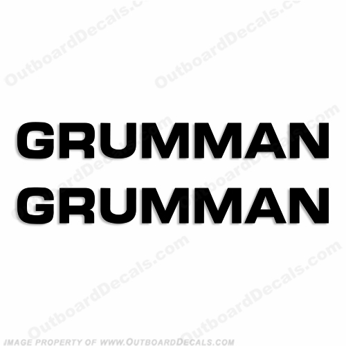 Grumman Boat Logo Decals - Any Color!
