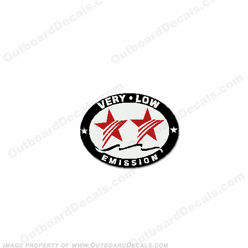 "Honda 2 Star ""Very Low Emission"" Decal"
