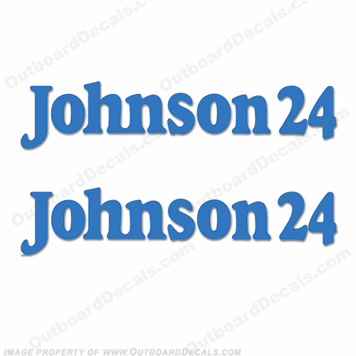 "Johnson Boat ""Johnson 24"" Decals (Set of 2) - Any Color!"