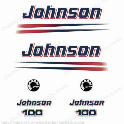 Johnson 100hp Outboard Engine Decals