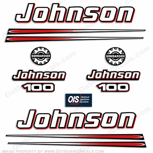Johnson 100hp 2004 Outboard Engine Decals