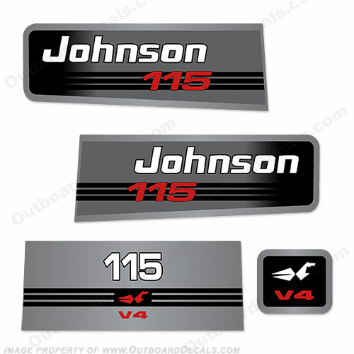 Johnson 115 V4 Decal Kit