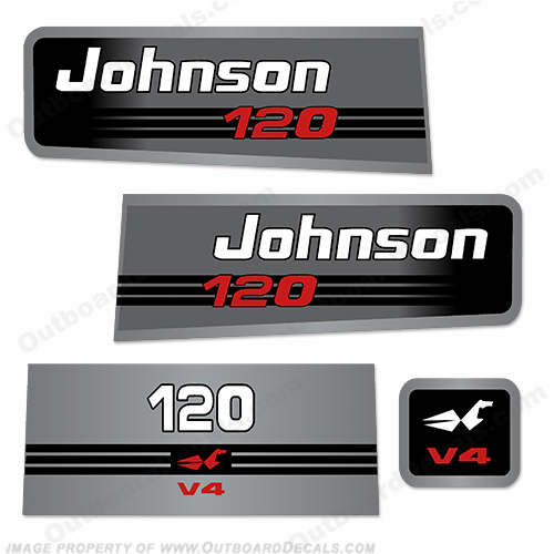 Johnson 120 V4 Decal Kit