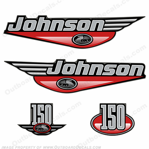 Johnson 150hp Decals - 1999 (Red)