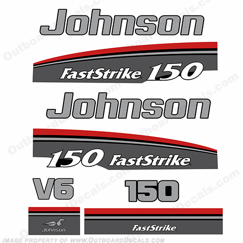 Johnson 150hp Fast Strike Decals - 1997