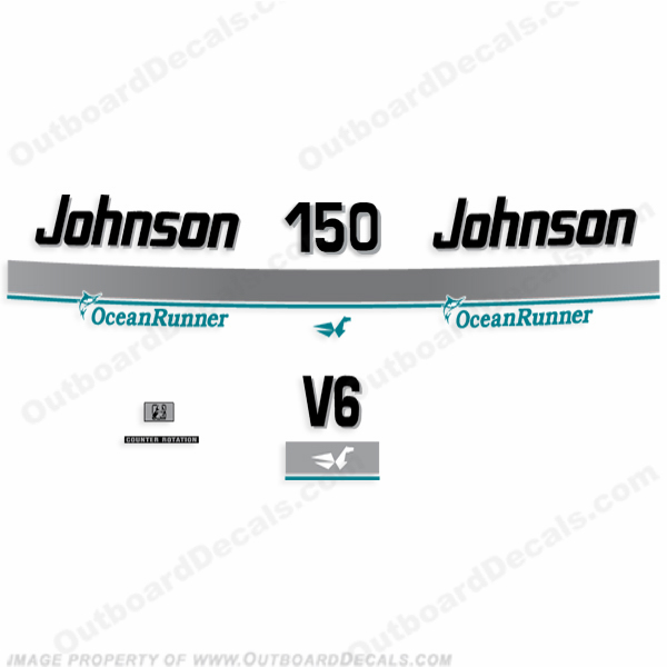 Johnson 150hp OceanRunner Decals 1994 - 1997