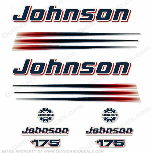 Johnson 175hp Decal Kit 2002 - 2006