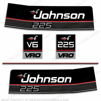 Johnson 1989 225 VRO Decal Kit