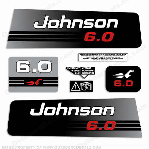 Johnson 6hp Decals - 1992 - 1994