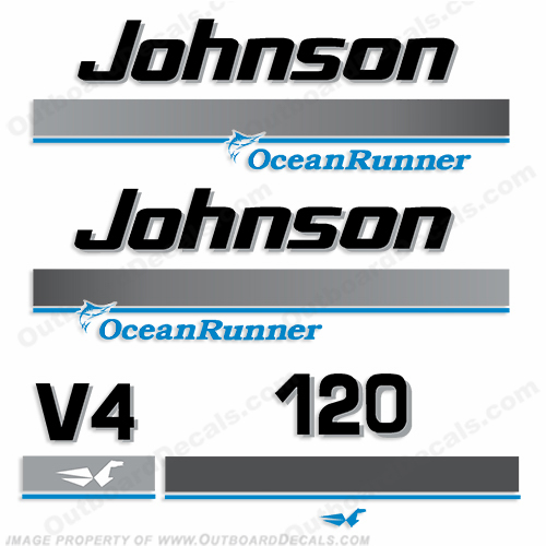 Johnson 120hp OceanRunner Decals