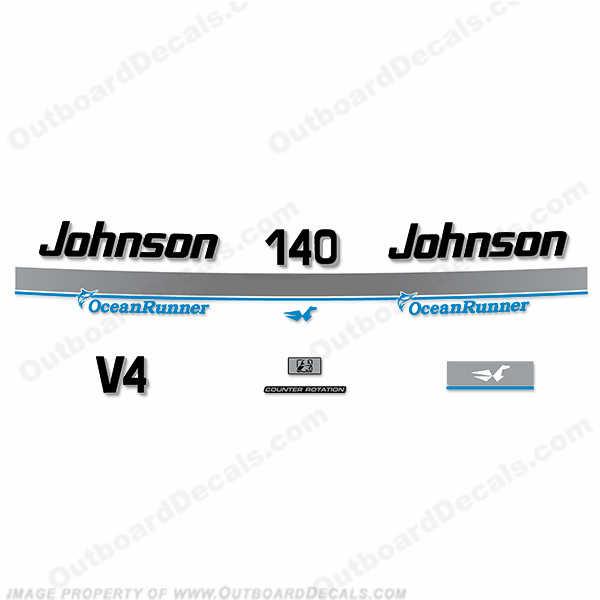 Johnson 140hp OceanRunner Decals