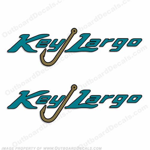 Key Largo Logo Boat Decals (Set of 2)