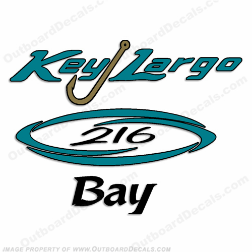 Key Largo 216 Bay Boat Decals
