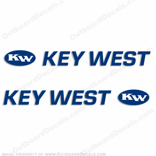 Key West Logo Boat Decals (Set of 2) Any Color!