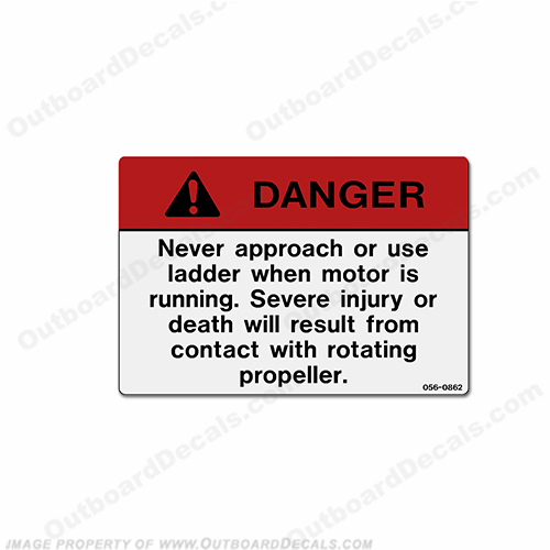 "Danger Decal - ""Never Use Ladder..."""