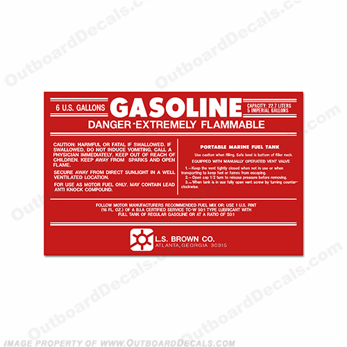LS Brown Gas Tank Decal