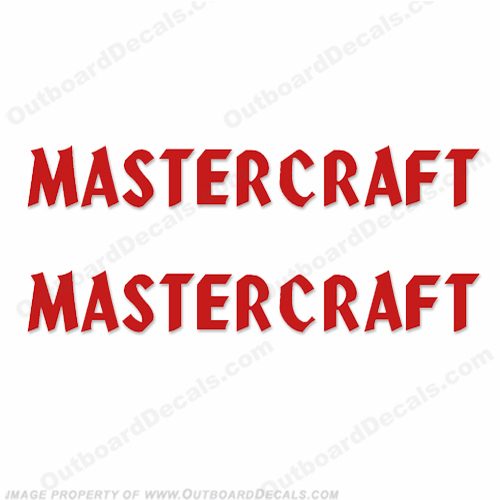 MasterCraft Boat Decals - Style 1 (Set of 2)