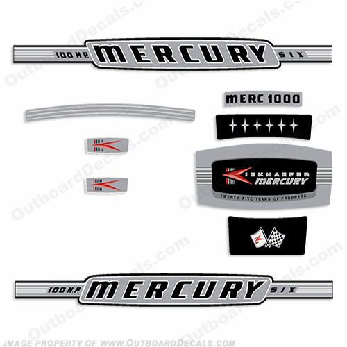 Vintage Mercury OutboardDecalscom S Of Decals In Stock - Decals for boat motorsoutboarddecalscom s of decals in stock