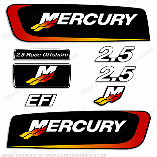 Custom color mercury decals page 2 for Custom outboard motor decals
