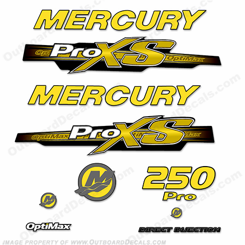 Custom color mercury decals for Custom outboard motor decals