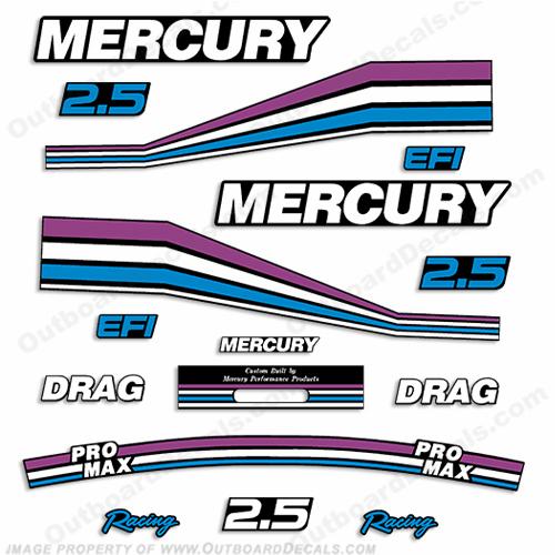 Mercury decals 1990 present for Custom outboard motor decals
