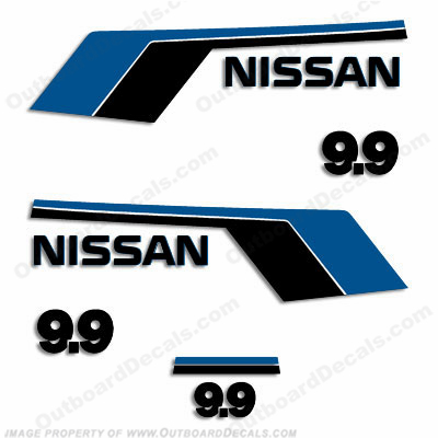 Nissan 9.9hp Decals - Early 90&#39s