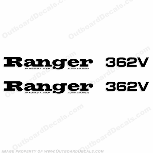 Ranger 362V Decals (Set of 2) - Any Color!