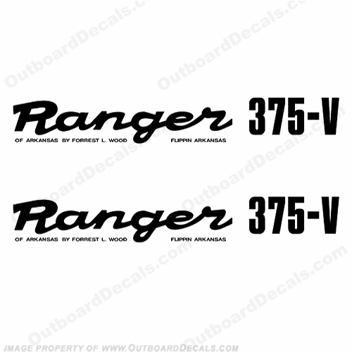 Ranger 375-V Early 1980&#39s Decals (Set of 2) - Any Color!