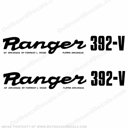 Ranger 392-V Early 1980&#39s Decals (Set of 2) - Any Color!