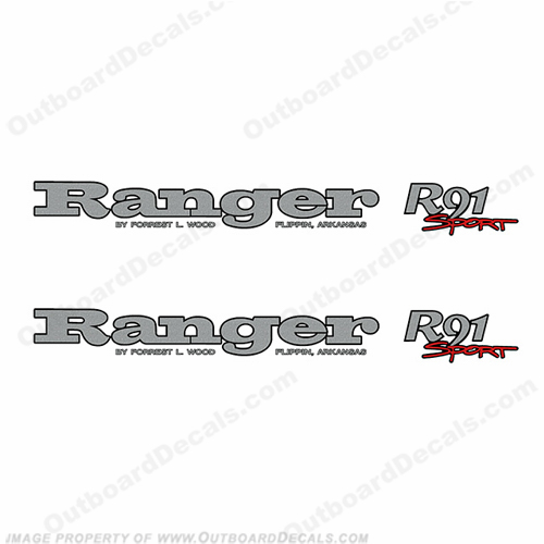 Ranger R91 Sport Decals (Set of 2)