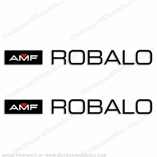 AMF Robalo Boat Logo Decals (Set of 2)
