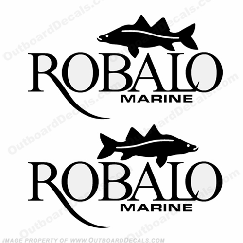 Robalo Marine Logo w/ Fish Decals - Any Color!