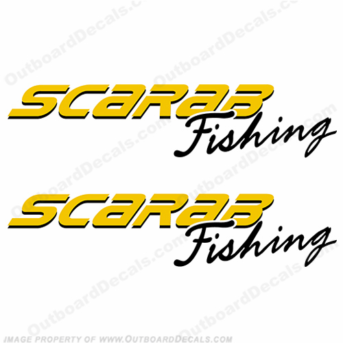 Custom Scarab Fisthing Decals (Set of 2)