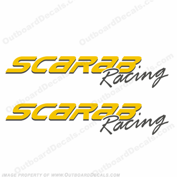Scarab Racing Decals (Set of 2) - Any Color!