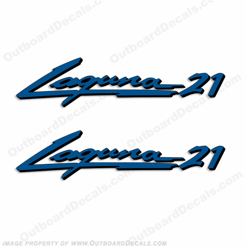 "Sea Ray ""Laguna 21"" Boat Decals - Set of 2"